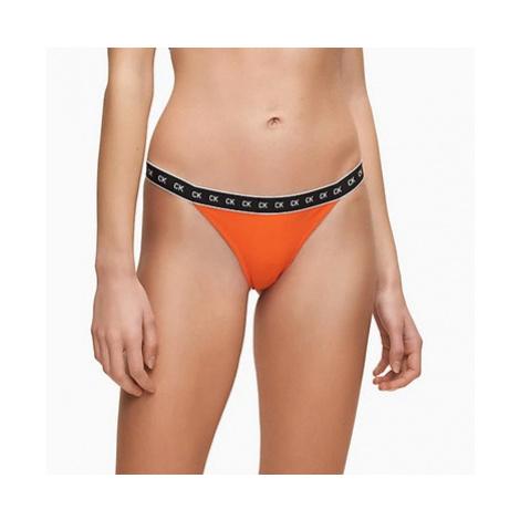 Dámské plavkové kalhotky Calvin Klein KW00945 oranžová   oranžová