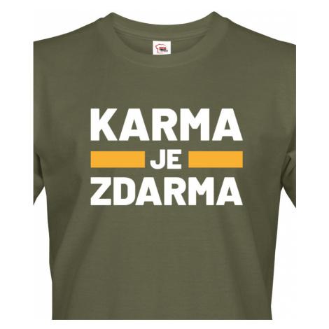 Pánské tričko s potiskem Karma je zdarma - tričko pro drzé týpky BezvaTriko
