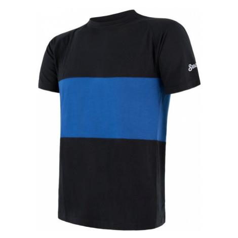 Pánské tričko SENSOR Merino Air PT černá/modrá