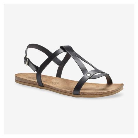 Blancheporte Kožené sandály, černé černá