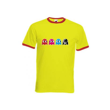 Pánské tričko s kontrastními lemy Pacman Star Wars
