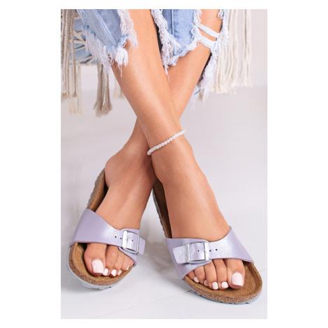 Fialové pantofle Madrid BF Birkenstock