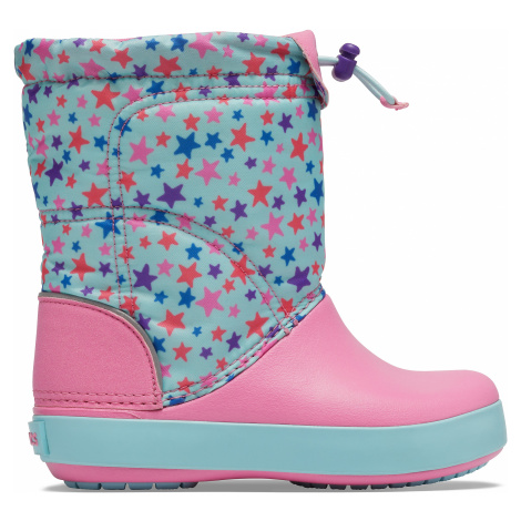 Crocs Crocband LodgePoint Graphic Winter Boot K Ice Blue/Pink Lemonade J3