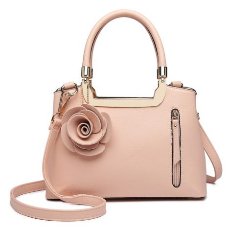 Růžová dámská elegantní kabelka s růží Rokiel Lulu Bags