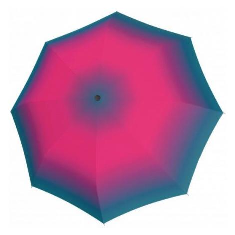 Růžový duhový automatický skládací dámský deštník Deeann Doppler
