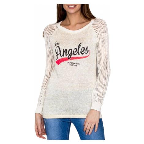 Dámský béžový svetr los angeles BASIC