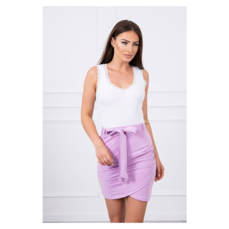 Wrap skirt tied at the waist purple