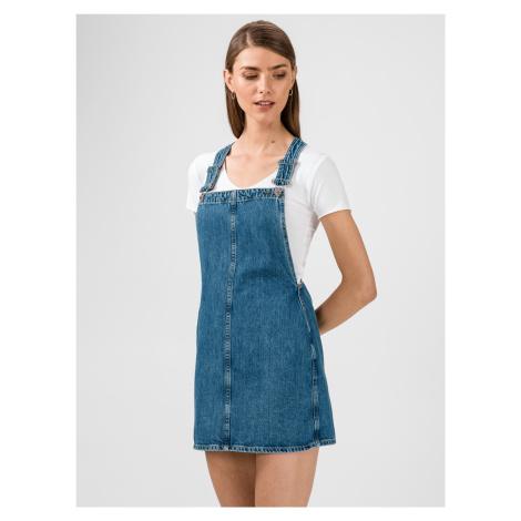 Šaty s laclem Pepe Jeans Modrá