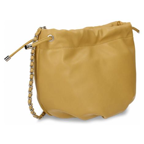Žlutá dámská kabelka s řetízkovým uchem Baťa