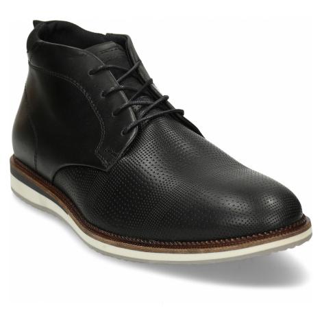 Černá neformální pánská kotníková obuv Baťa