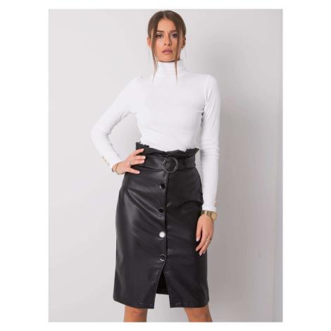 RUE PARIS Černá sukně s opaskem