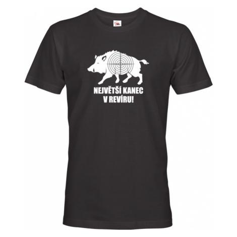 Pánské tričko pro myslivce Největší kanec v revíru