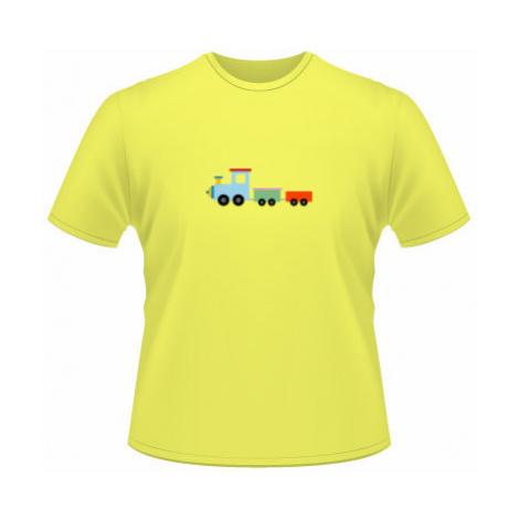 Pánské tričko na tělo Kids train