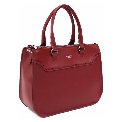 Tmavě červená dámská kabelka do ruky i přes rameno Ophelia Mahel