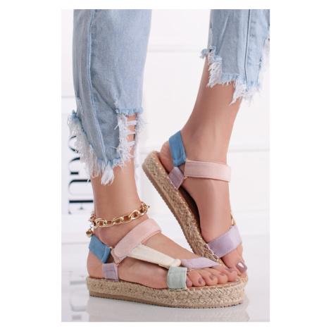 Vícebarevné platformové sandály Aurelie Ideal