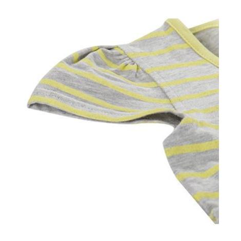 Dětské šaty Alpine Pro SARKO - žlutá