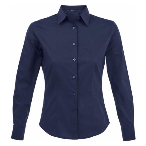 SOĽS Dámská košile EDEN 17015228 Dark blue SOL'S