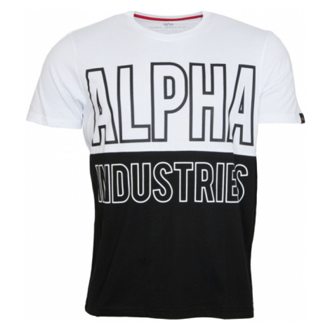 Alpha Industries Tričko Block T bílé