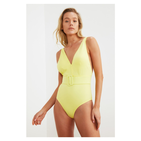 Trendyol Yellow Belt Detailed Swimsuit