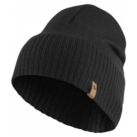 Čepice Fjällräven Merino Lite Hat - Black