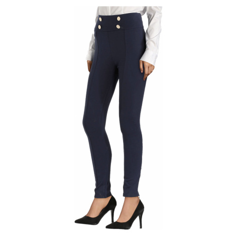 Modré elastické kalhoty GUESS