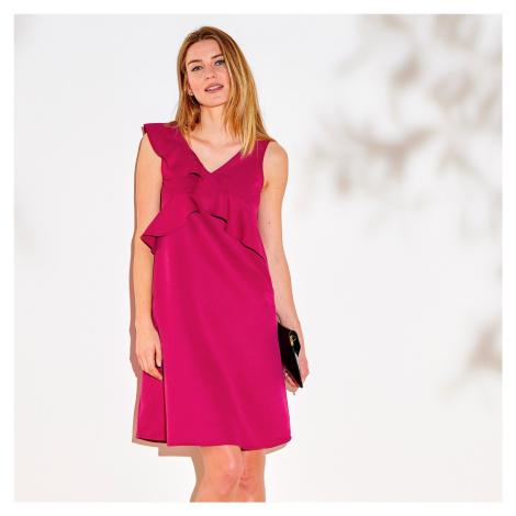 Blancheporte Krátké šaty bez rukávů malinová