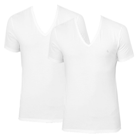 2PACK men's t-shirt CK ONE V neck white (NB2408A-100) Calvin Klein