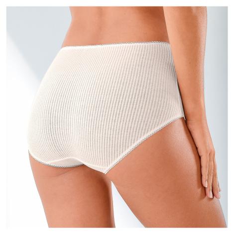 Blancheporte Maxi kalhotky s plochými švy, sada 6 ks pudrová