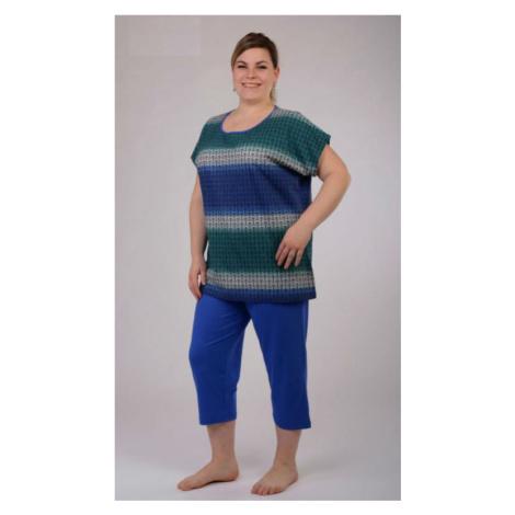 Dámské pyžamo nadměr kapri Vienetta Secret Martina | modrá/zelená