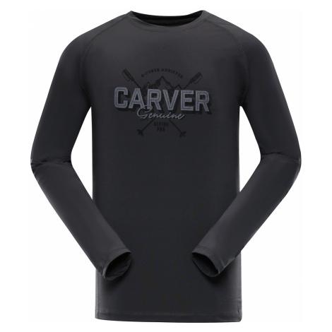 ALPINE PRO TAR Pánské funkční triko s dlouhým rukávem MTSP401779PA tmavě šedá