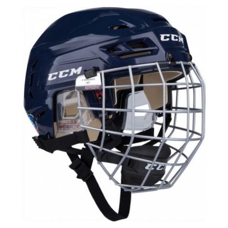 CCM TACKS 110 COMBO SR modrá - Hokejová helma