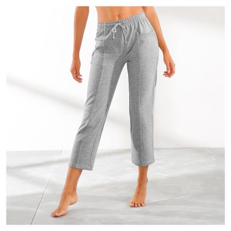 Blancheporte 3/4 kalhoty z česaného meltonu šedý melír