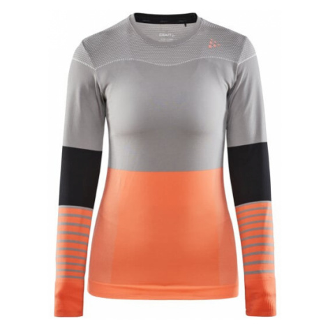 Dámské tričko CRAFT Fuseknit Comfort B šedá/oranžová