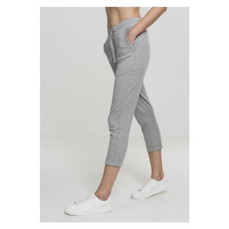 Urban Classics Ladies Open Edge Terry Turn Up Pants grey