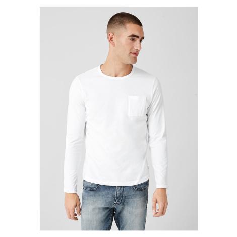 s.Oliver pánské jednobarevné triko s dlouhým rukávem 13.909.31.5224/0100