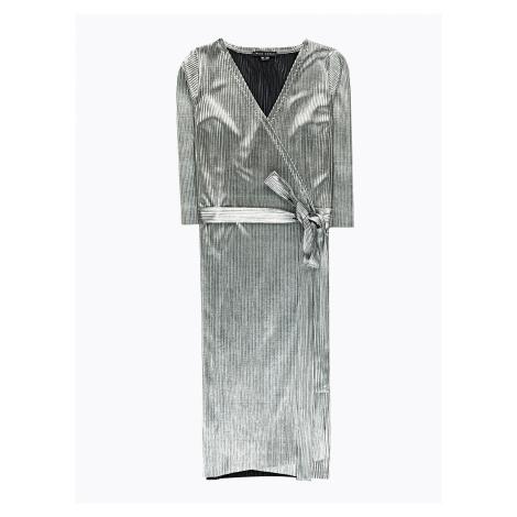 GATE Stříbrné zavinovací šaty