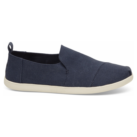 Deconstructed Alp. Navy Washed Canvas Toms