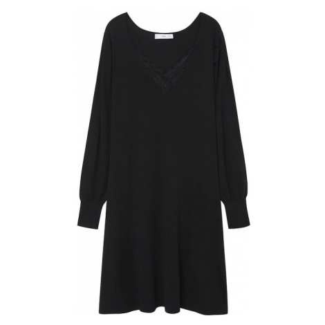 MANGO Šaty 'BLONLI' černá
