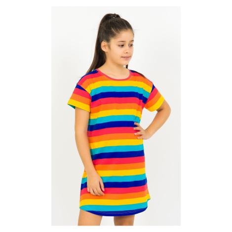 Dětská noční košile s krátkým rukávem Proužky 13 - 14