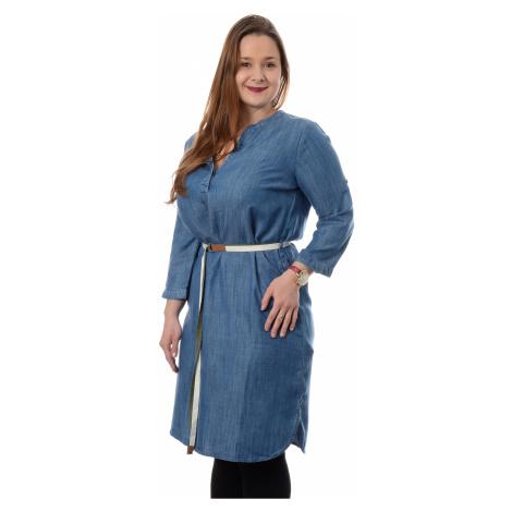 Džínové šaty Timezone Tencel Denim Dress dámské modré