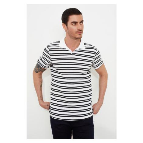 Trendyol White Male Regular Fit Polo Neck Short Sleeve Polo Neck T-shirt