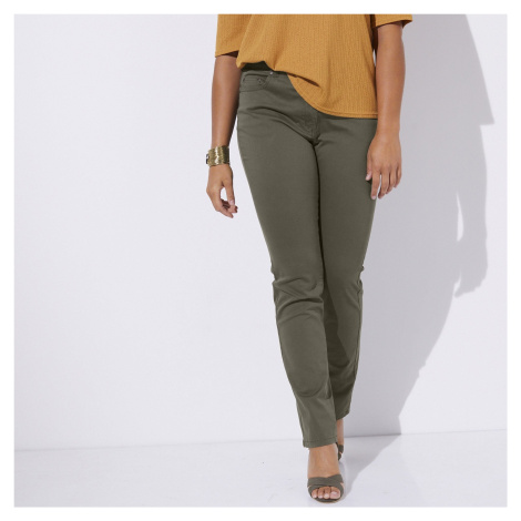 Blancheporte Bi-strečové kalhoty khaki