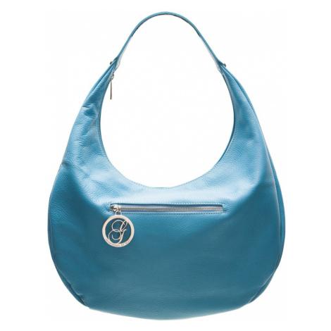 Dámská kožená kabelka pevný ucho - tyrkysová Glamorous