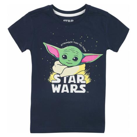 Star Wars The Mandalorian - Baby Yoda - Grogu detské tricko tmavě modrá