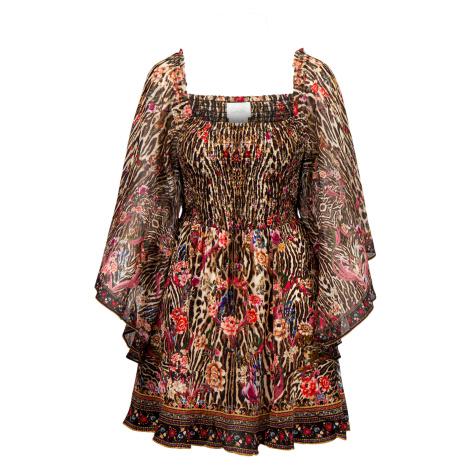Šaty Camilla SHIRRED BODICE MINI multicolor vzorkování