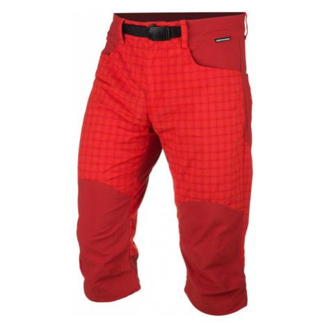 NORTHFINDER RUDHJI Pánské outdoorové šortky BE-3277OR450 červená
