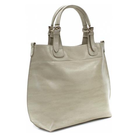 Béžová dámská luxusní kabelka do ruky i přes rameno Apollina Mahel