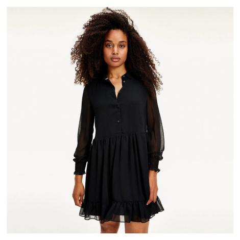 Tommy Jeans dámské černé šaty s dlouhým rukávem Tommy Hilfiger