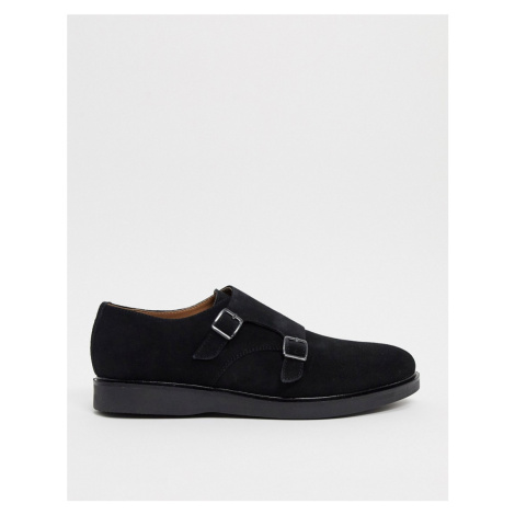 H by Hudson calverstone monk shoes in black suede