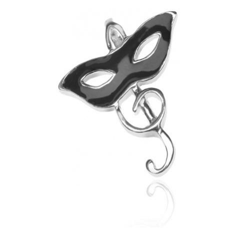 Stříbrný přívěsek 925 - škraboška a houslový klíč Šperky eshop